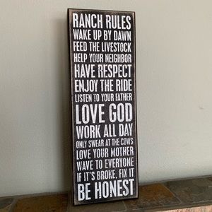 Primitives By Kathy | Ranch Rules Rustic Wood Sign